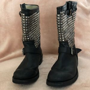 Ash Trash Studded Boots